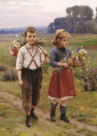 Köy Yolunda Çocuklar resim