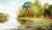 Lakeside Landspace in Autumn - DM-C-160