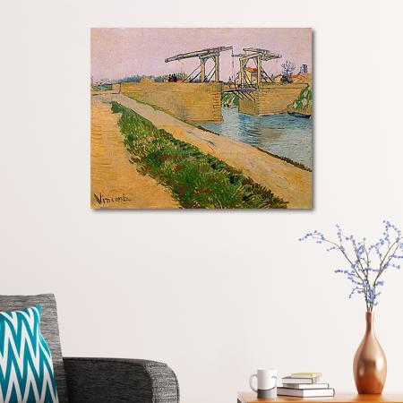 Langlois Bridge at Arles resim2