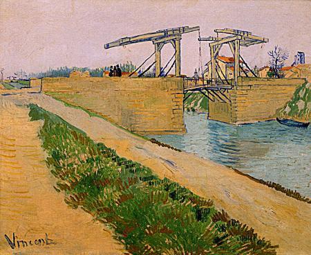 Langlois Bridge at Arles resim