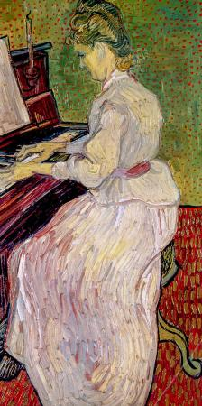 Marguerite Gachet at the Piano resim