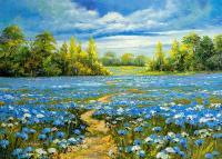 Mavi Çiçekler - DM-C-104