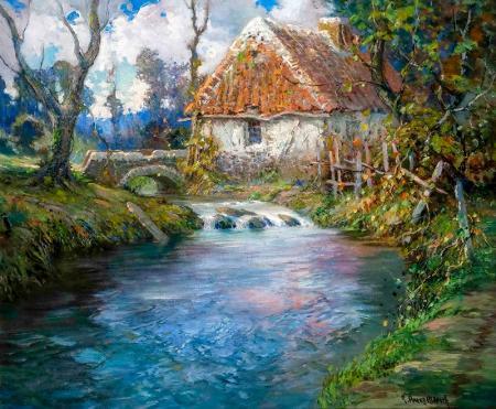 Nehirin Yanındaki Ev resim