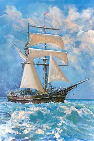 Okyanusta Yelkenli resim