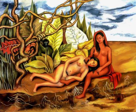 Ormandaki İki Nüd resim