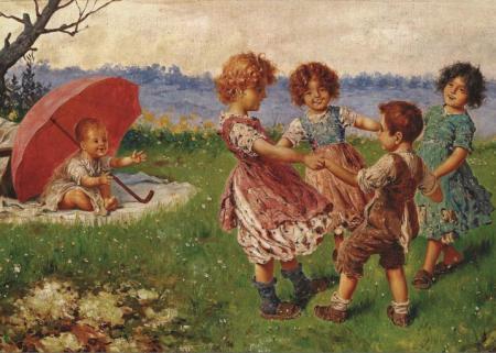 Oyun Oynayan Çocuklar resim
