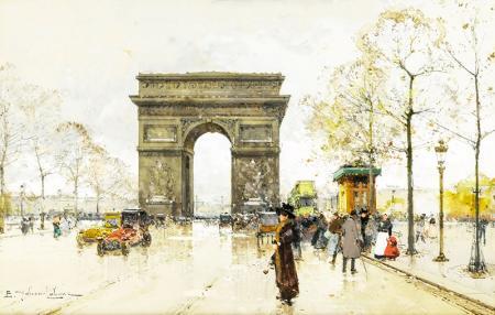 Paris Charles de Gaulle Meydanı ve Zafer Takı resim