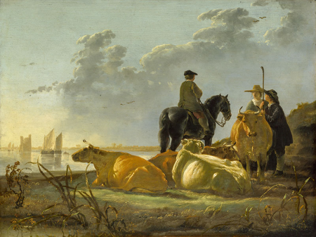 Peasants and Cattle by the River Merwede 0