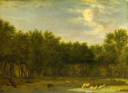Peasants with Cattle fording a Stream 0