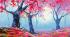 Pembe Soyut Ağaçlar k0