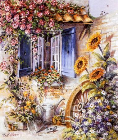 Penceredeki Çiçekler resim