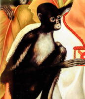 Portrait with Monkey - UR-C-254
