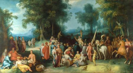 Preaching of John the Baptist resim