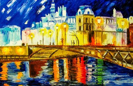 Renkli Şehir Manzarası resim