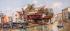 San Trovasi Venedig'de Gondelwerft'ten görünüm. k0