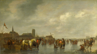Scene On the Ice Outside Dordrecht - UR-C-005