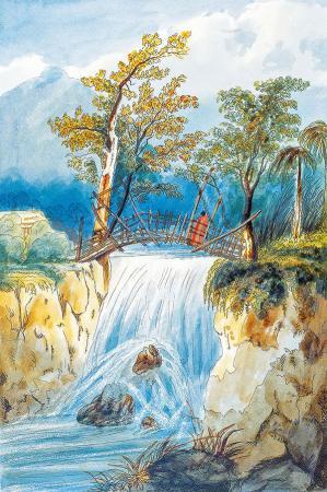 Şelale ve Köprü resim