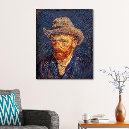 Self Portrait with Felt Hat resim2