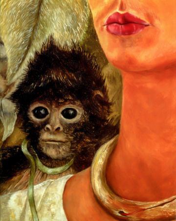 Self Portrait with Monkey resim