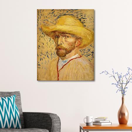 Self Portrait With Straw Hat resim2