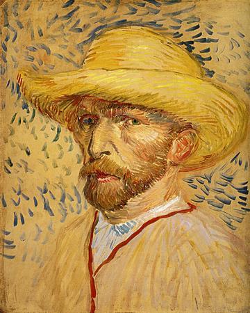 Self Portrait With Straw Hat resim