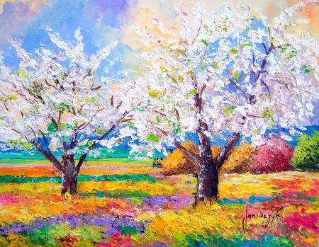 Soyut İlkbahar resim