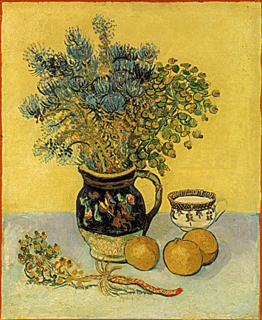 Still Life Majolica with Wildflowers 0