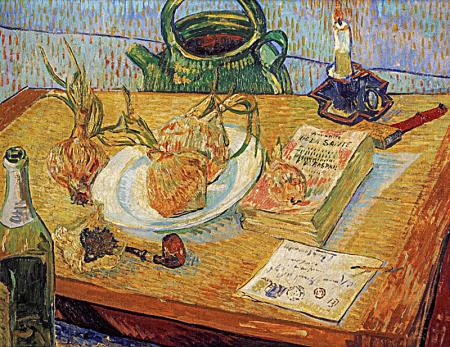 Still Life With a Plate of Onions resim