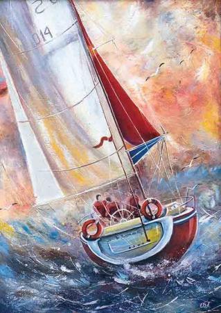 Teknede Üç Denizci resim