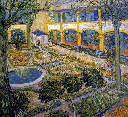 The Asylum Garden at Arles resim