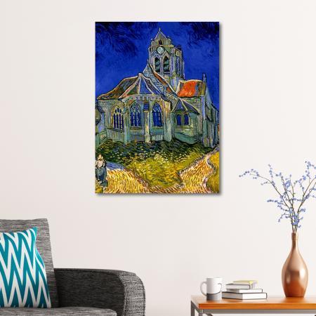 The Church at Auvers resim2