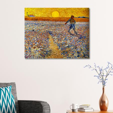 The Sower (Sower with Setting Sun) resim2