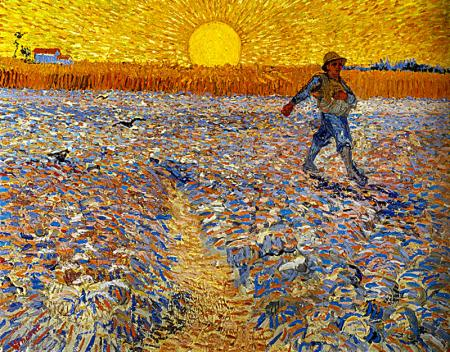 The Sower (Sower with Setting Sun) resim