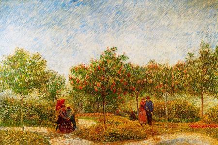 The Voyer d'Argenson Park in Asnieres resim