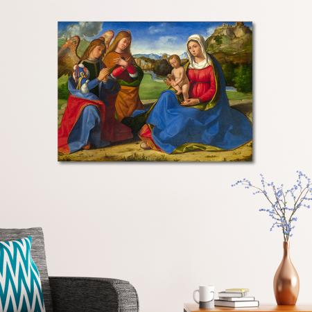 The Woman and Child adored by Two Angels resim2