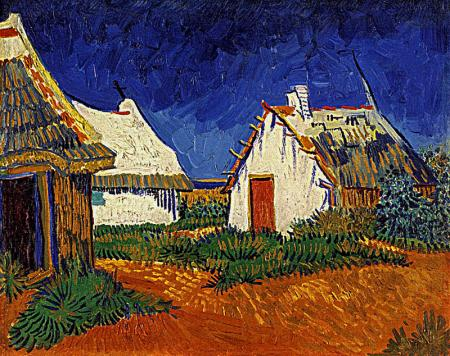 Three White Cottages in Saintes-Maries resim