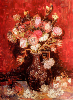 Vase with Asters and Phlox - UR-C-096