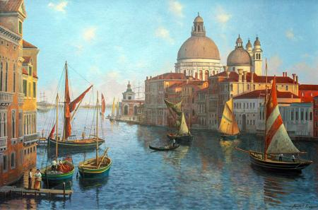 Venedik Büyük Kanal resim