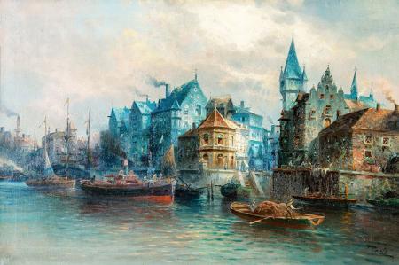 Venedik Liman Görünüşü resim