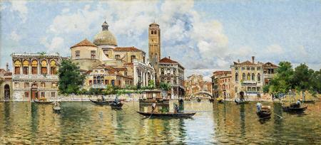 Venedik'teki Kanal resim