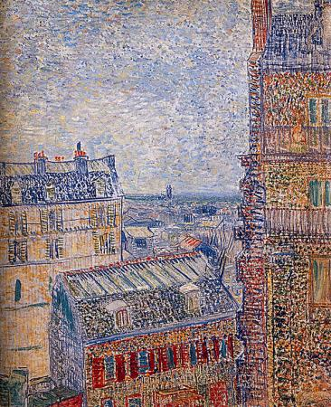 View of Paris from Vincent's Room in the Rue Lepic resim