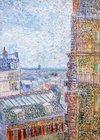 View of Paris from Vincents Room in the Rue Lepic - UR-C-106
