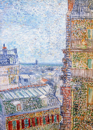 View of Paris from Vincents Room in the Rue Lepic 0