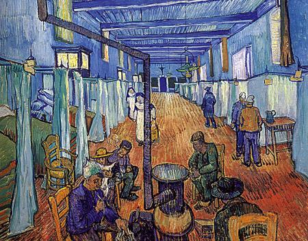 Ward in the Hospital at Arles resim