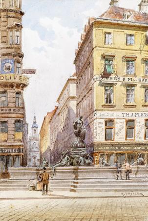 Wien, Der Donnerbrunnen am Neuen Markt resim