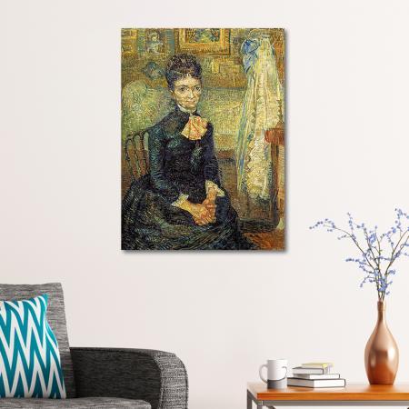 Woman Sitting By A Cradle resim2