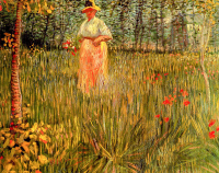 Woman Walking In A Garden A - UR-C-098