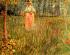 Woman Walking In A Garden A k0