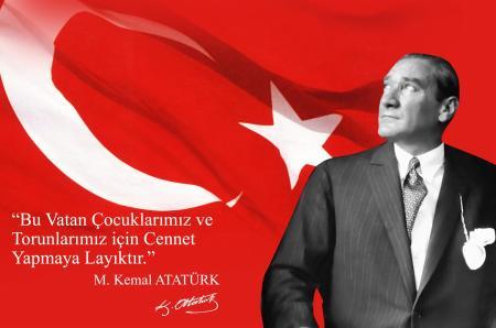 Yazılı Atatürk Tablosu resim