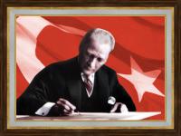 Atatürk Yazı Yazarken - ATA01-Ç